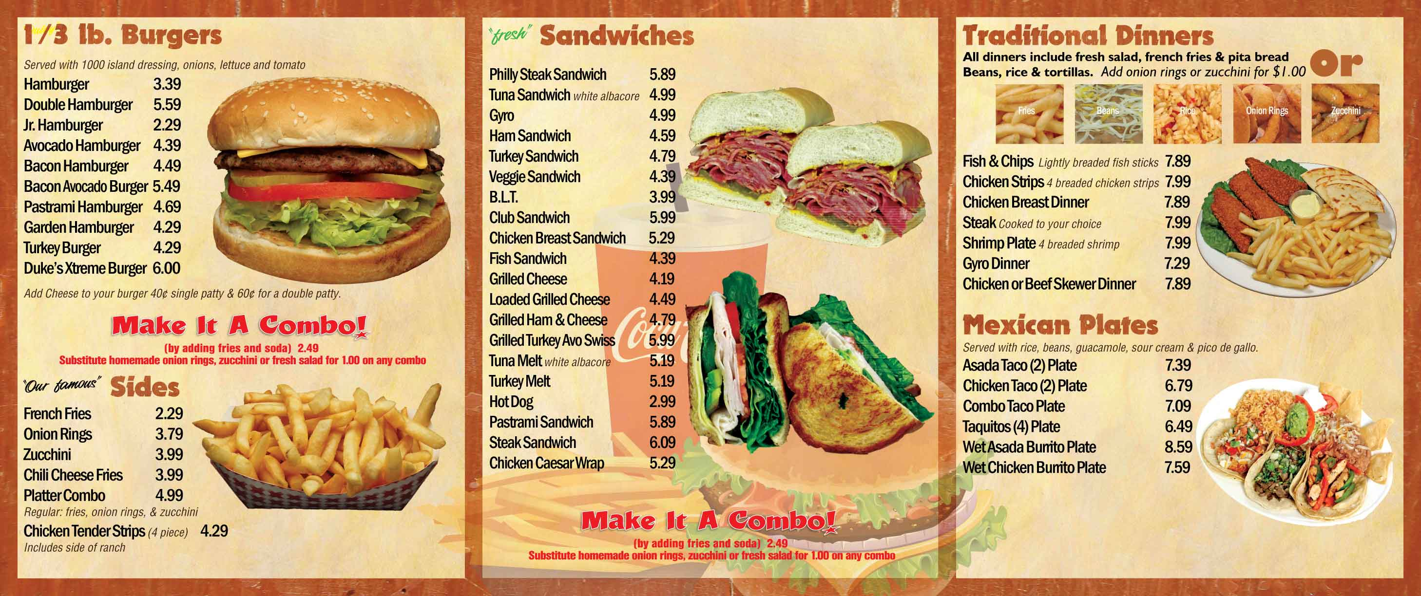 Restaurant Sides Menu